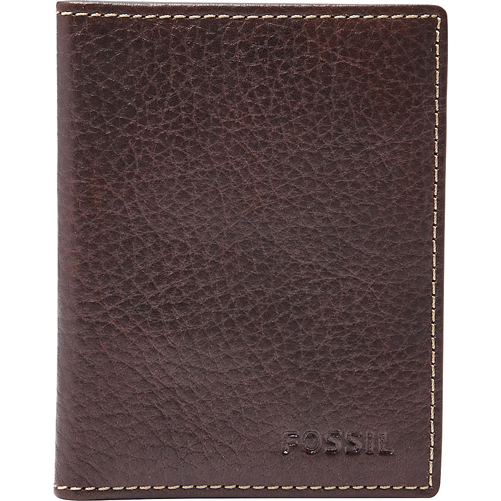 Fossil Lincoln Card Case Bifold Brown - Fossil Mens Wallets - Work Bags & Briefcases, Men's Wallets