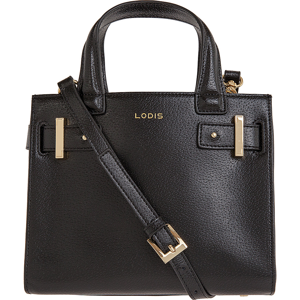 Lodis Stephanie Uma Mini Tote with RFID Protection Black Lodis Leather Handbags