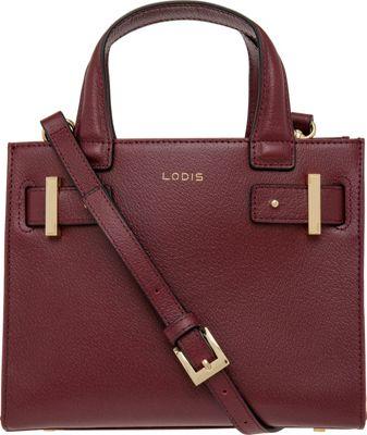 Lodis Stephanie Uma Mini Tote with RFID Protection Burgundy - Lodis Leather Handbags