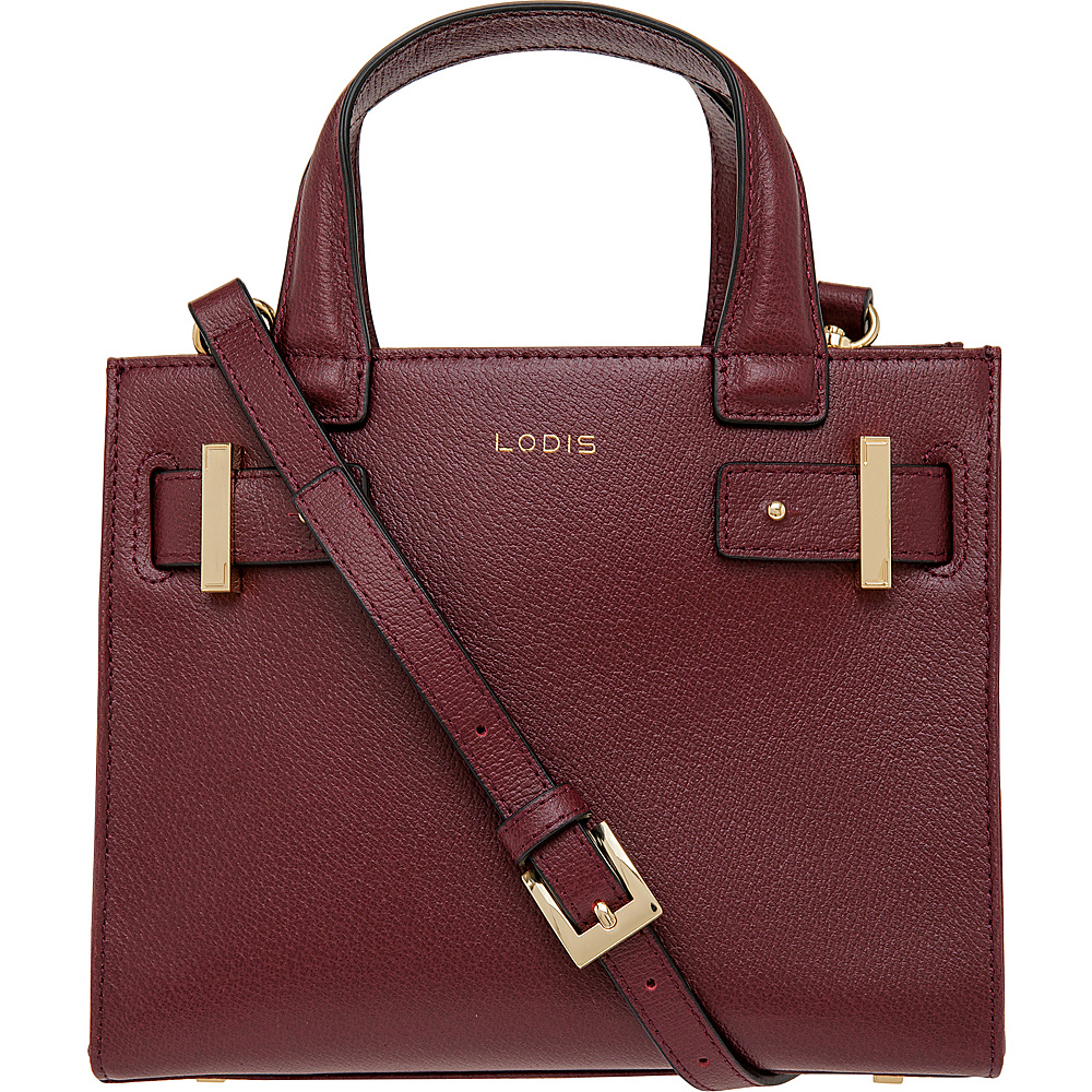 Lodis Stephanie Uma Mini Tote with RFID Protection Burgundy Lodis Leather Handbags