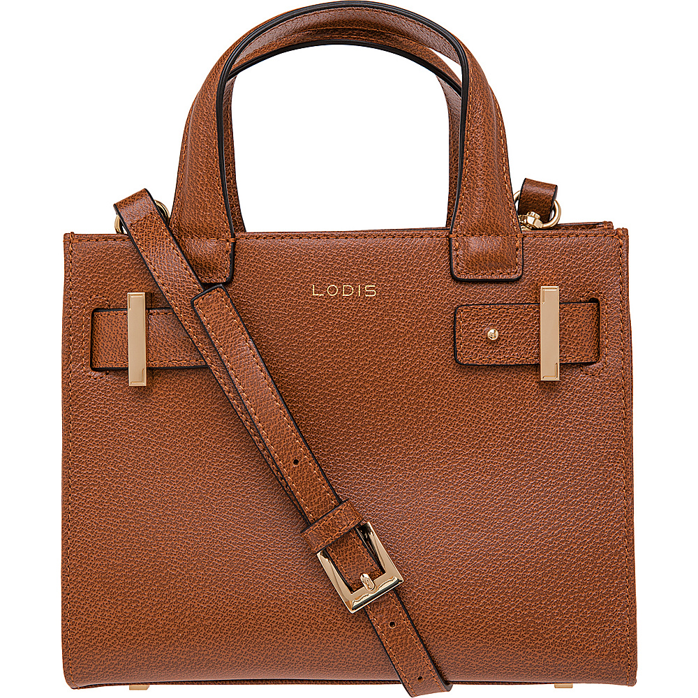 Lodis Stephanie Uma Mini Tote with RFID Protection Chestnut Lodis Leather Handbags