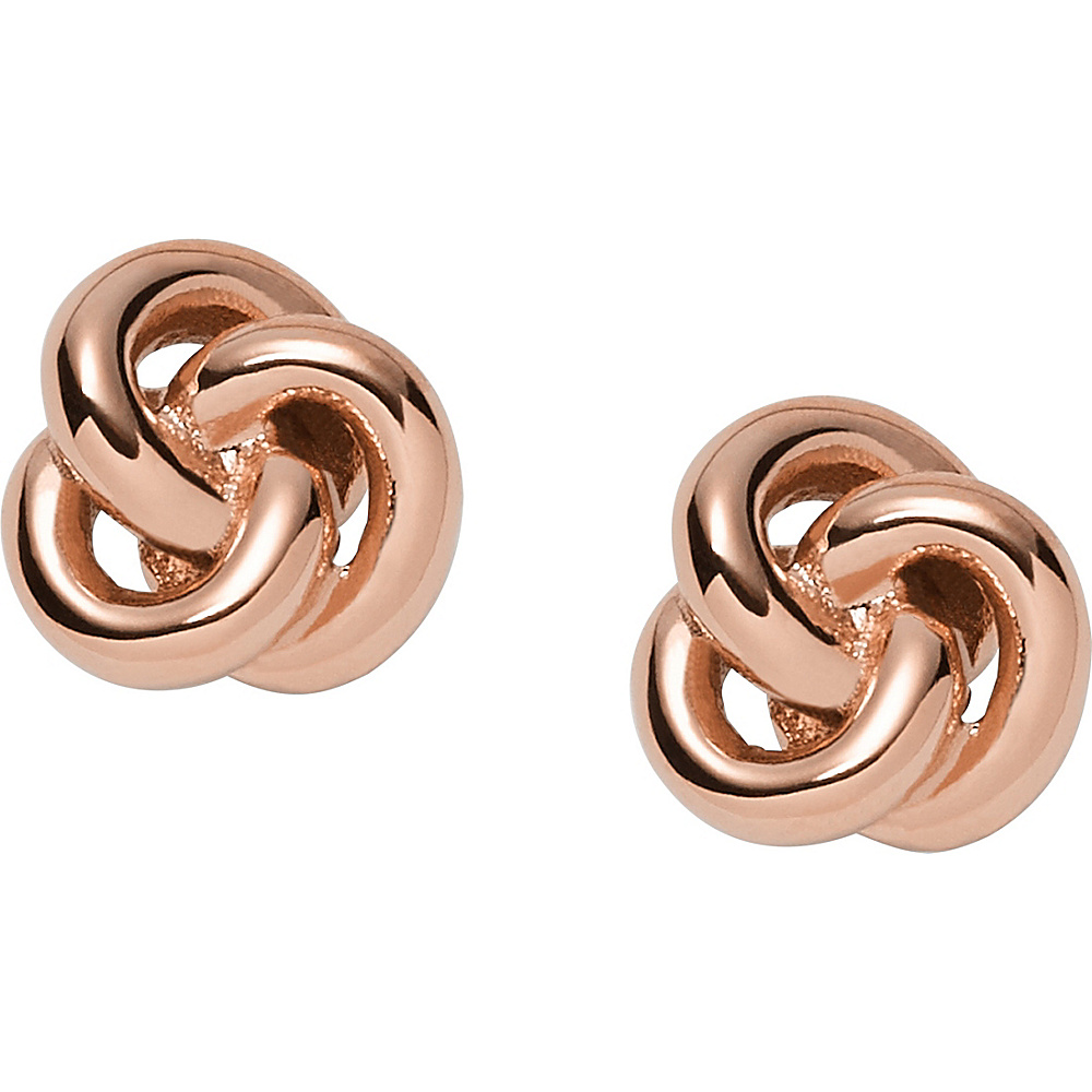 Fossil Knot Studs Rose Gold - Fossil Other Fashion Accessories - Fashion Accessories, Other Fashion Accessories