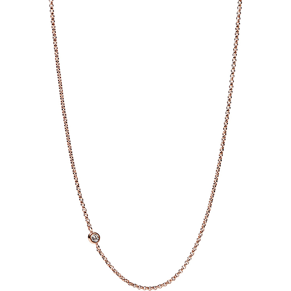 Fossil Charm Starter Necklace Rose Gold - Fossil Jewelry - Fashion Accessories, Jewelry