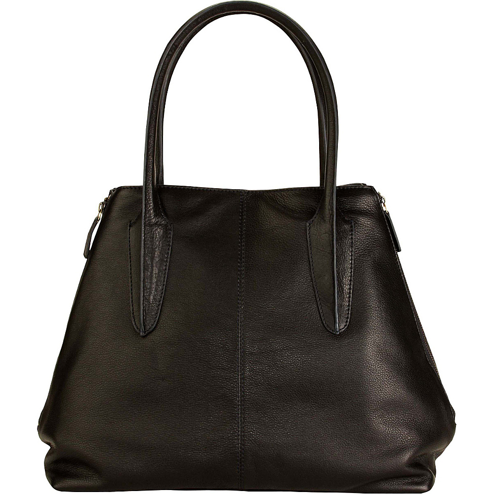 Hadaki Pippens Satchel Black - Hadaki Leather Handbags - Handbags, Leather Handbags