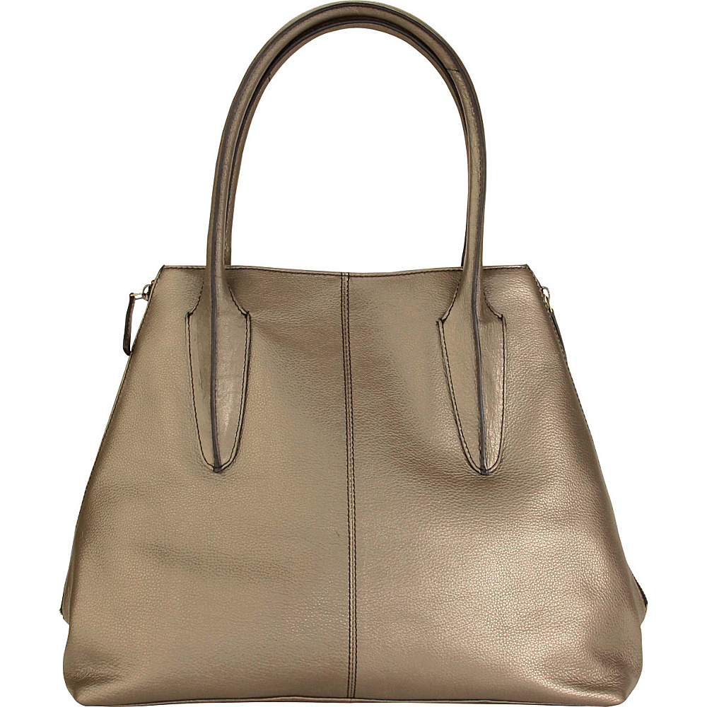 Hadaki Pippens Satchel Bronze - Hadaki Leather Handbags - Handbags, Leather Handbags