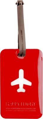 ALIFE DESIGN Alife Design Squared Luggage Tag Red - ALIFE DESIGN Luggage Accessories