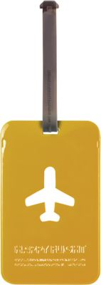 ALIFE DESIGN Alife Design Squared Luggage Tag Yellow - ALIFE DESIGN Luggage Accessories