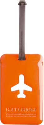 ALIFE DESIGN Alife Design Squared Luggage Tag Orange - ALIFE DESIGN Luggage Accessories
