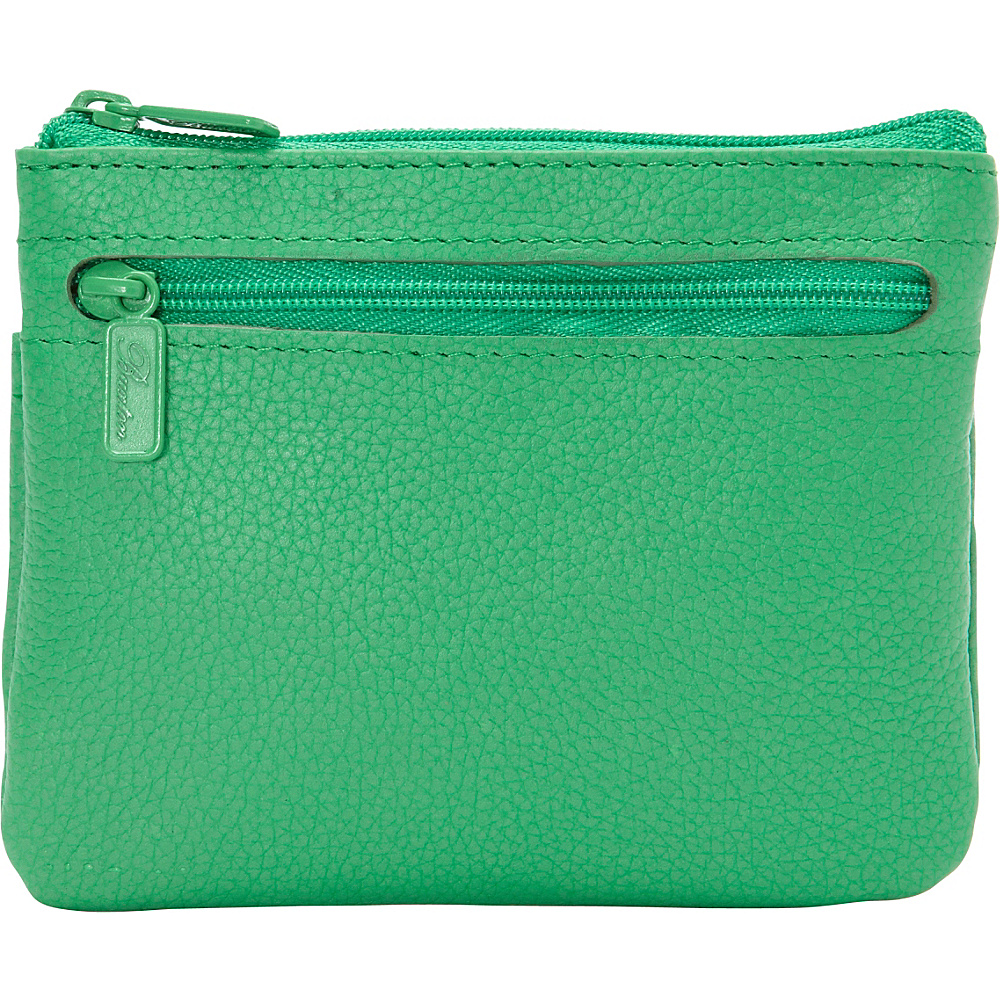 Buxton Hudson Pik Me Up Large I.D. Coin Card Case Exclusive Colors Bright Green Exclusive Color Buxton Women s Wallets