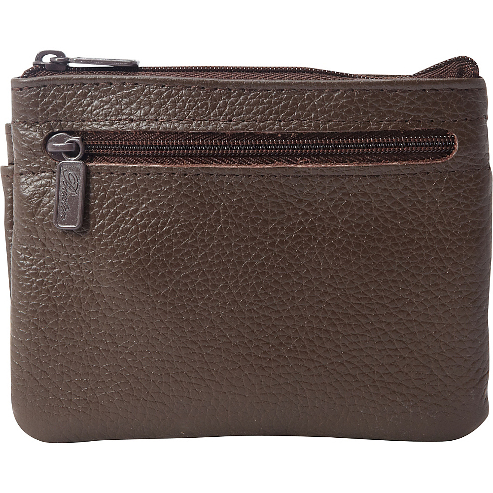 Buxton Hudson Pik Me Up Large I.D. Coin Card Case Exclusive Colors Chocolate Brown Buxton Women s Wallets
