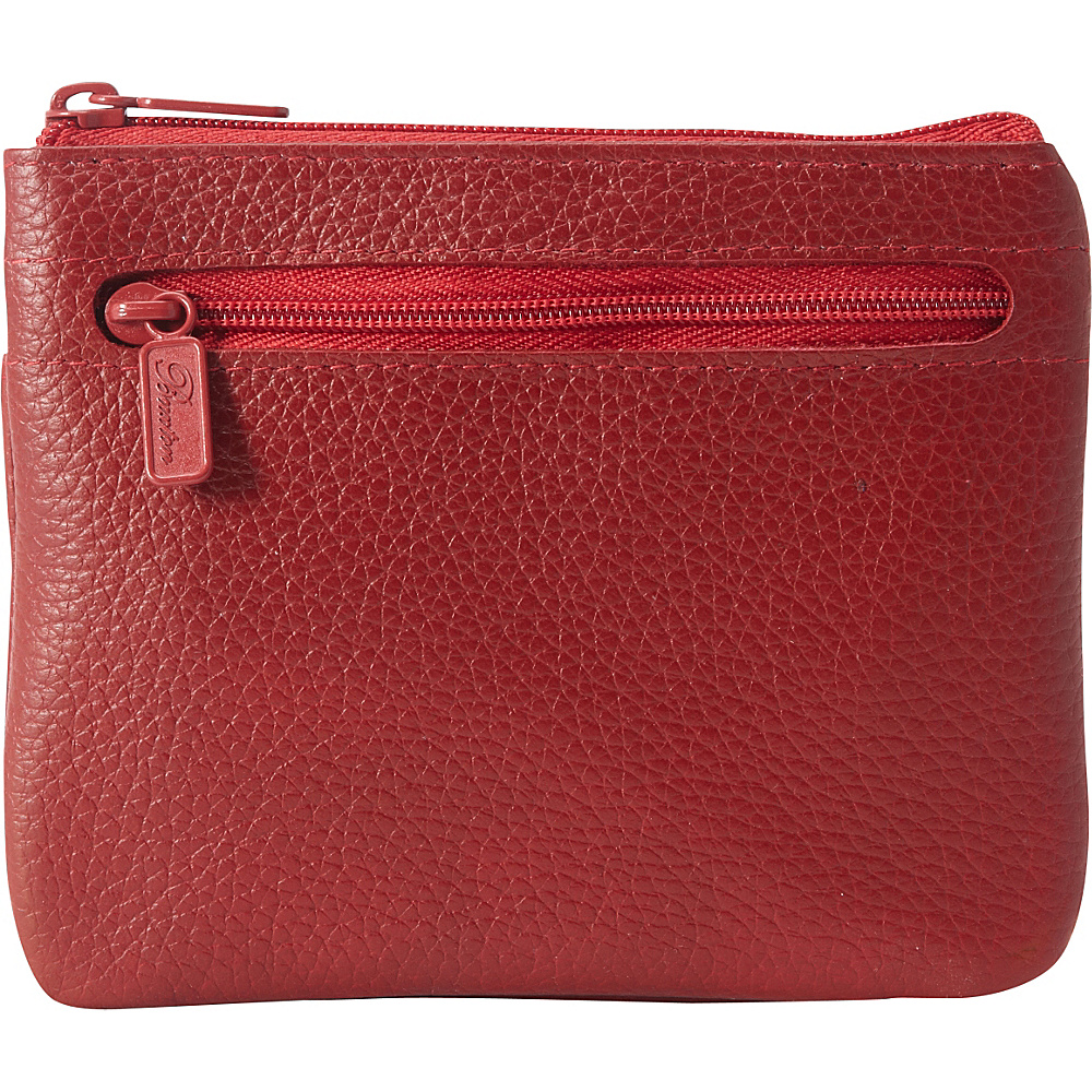 Buxton Hudson Pik Me Up Large I.D. Coin Card Case Exclusive Colors Dark Red Buxton Women s Wallets