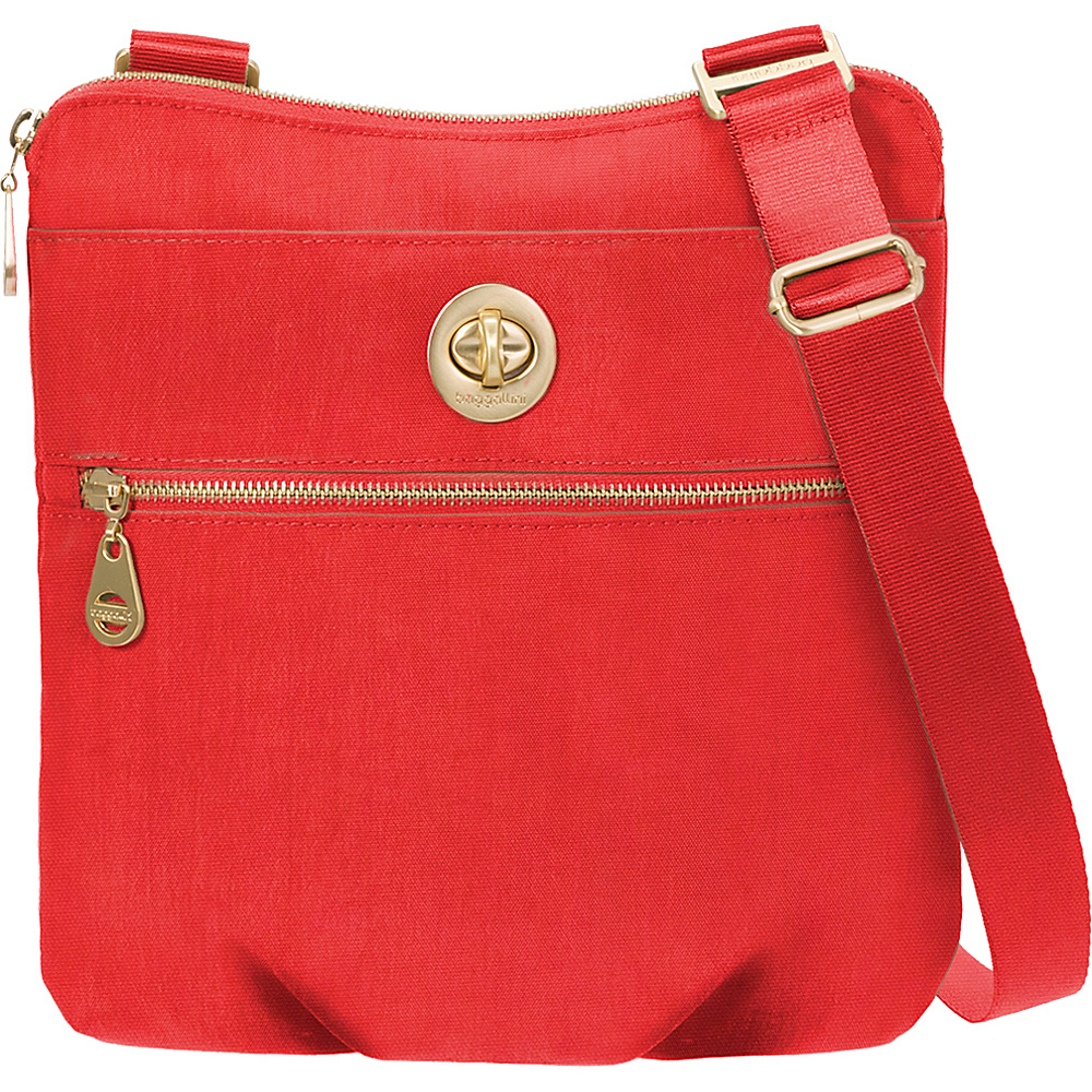 baggallini Gold Hanover Crossbody Hibiscus - baggallini Fabric Handbags - Handbags, Fabric Handbags