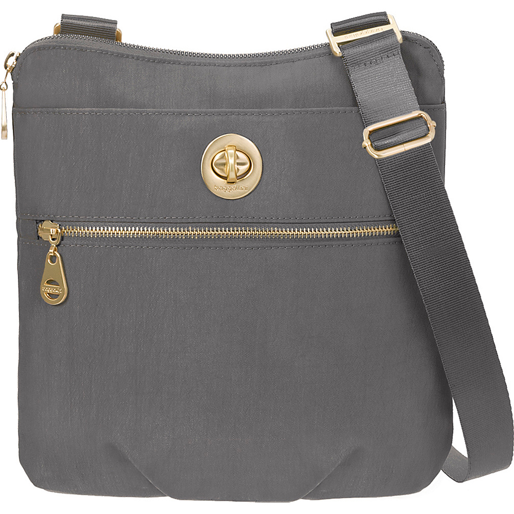 baggallini Gold Hanover Crossbody Charcoal baggallini Fabric Handbags