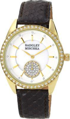 Image of Badgley Mischka Watches Round Crystal Watch Brown - Badgley Mischka Watches Watches