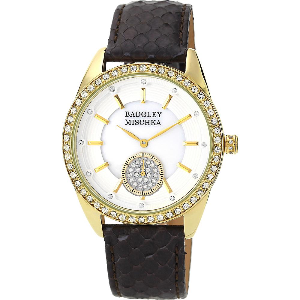 Badgley Mischka Watches Round Crystal Watch Brown - Badgley Mischka Watches Watches