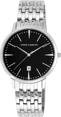Vince Camuto Watches Chain-Link Classic Watch Black/Silver/Silver - Vince Camuto Watches Watches