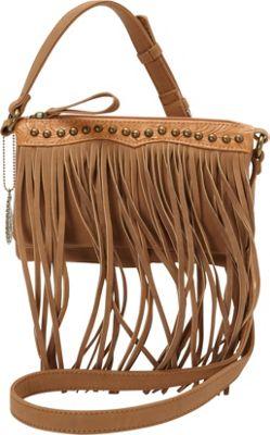Bandana Sun Valley Fringe Crossbody/ Wallet Tan - Bandana Manmade Handbags