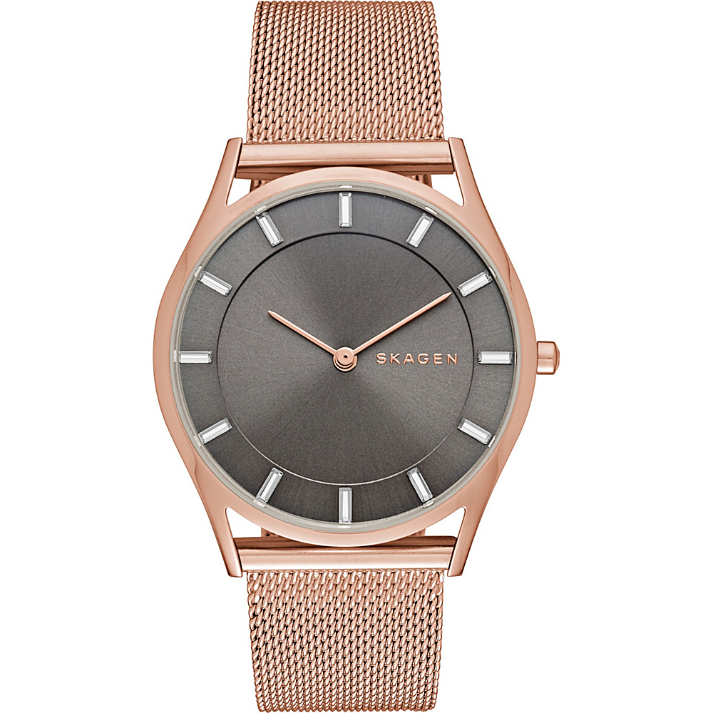 Skagen Holst Slim Steel Mesh Watch Rose Gold Skagen Watches