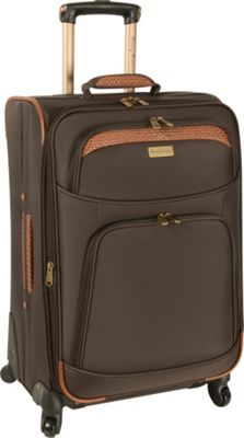 Tommy Bahama Tommy Bahama Santorini 24 inch Expandable Spinner Dark Brown/Cognac - Tommy Bahama Softside Checked
