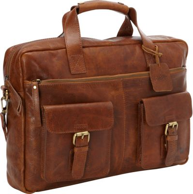 Rawlings Rugged Briefcase Cognac - Rawlings Non-Wheeled Business Cases