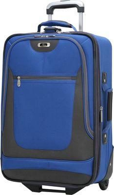Skyway Epic 20 inch 4-Wheel Expandable Carry-on Surf Blue - Skyway Softside Carry-On