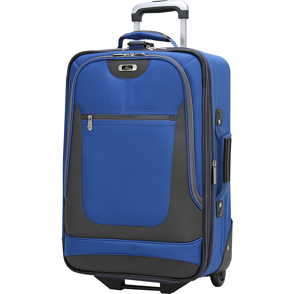Skyway Epic 20 4 Wheel Expandable Carry on Surf Blue Skyway Softside Carry On