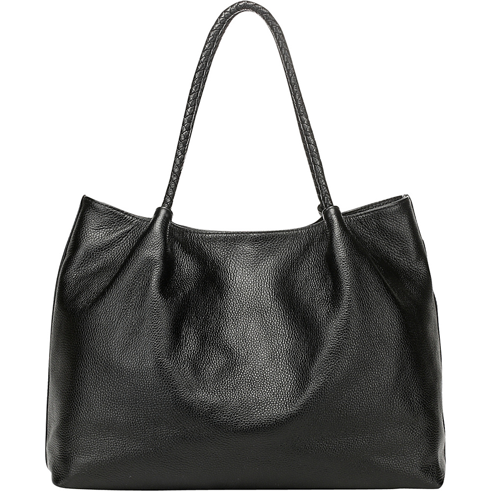 Vicenzo Leather Nicole Leather Tote Shoulder Handbag Black Vicenzo Leather Leather Handbags