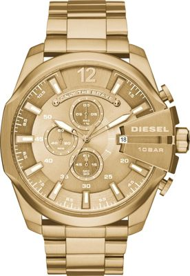 Diesel Watches Mega Chief Chronograph Stainless Steel Watch Gold - Diesel Watches Watches