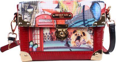 Nicole Lee London Girl Print Structure Crossbody London Girl - Nicole Lee Manmade Handbags