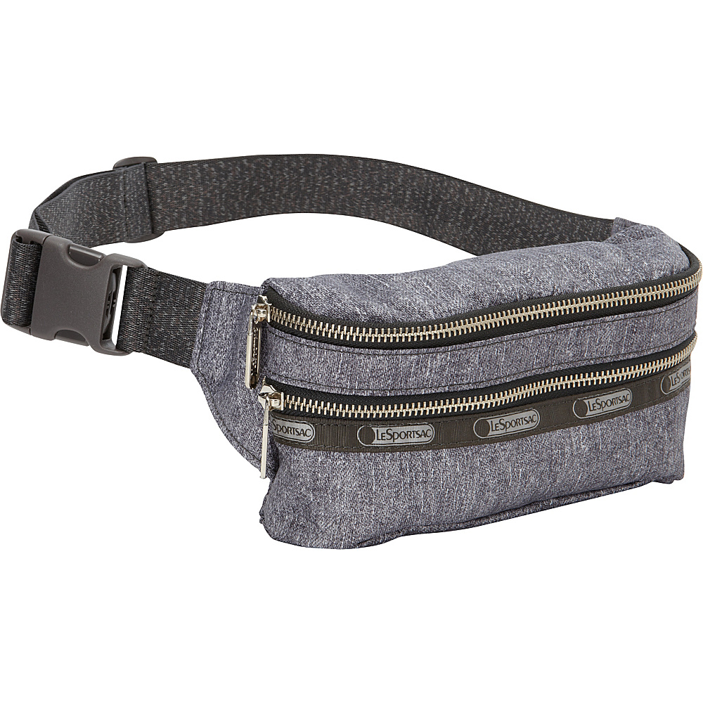 Upc 883681883274 Product Image For Lesportsac Modern Double Zip Belt Bag Gunmetal Denim Waist