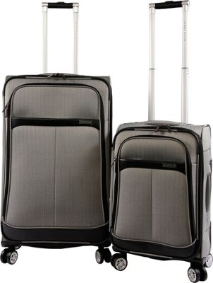 Perry Ellis Marquis 2Pc Spinner Luggage Set Herringbone - Perry Ellis Luggage Sets