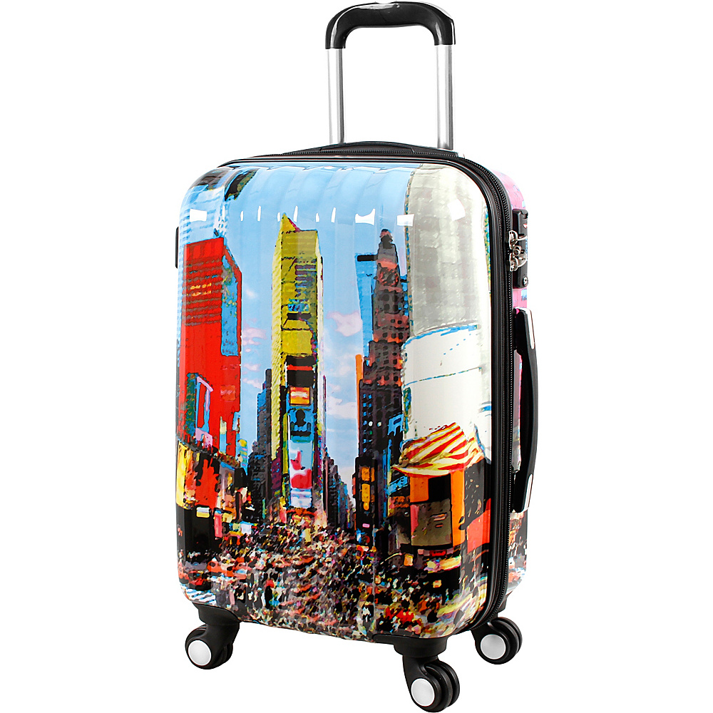 J World New York Art Luggage Time Square - J World New York Kids Luggage - Luggage, Kids' Luggage