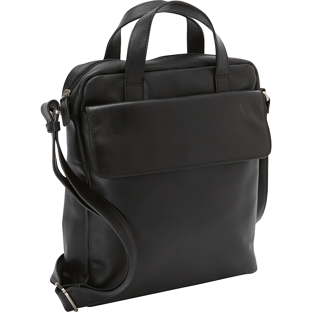Derek Alexander N/S Top Zip Tablet Messenger Bag Black - Derek Alexander Messenger Bags - Work Bags & Briefcases, Messenger Bags