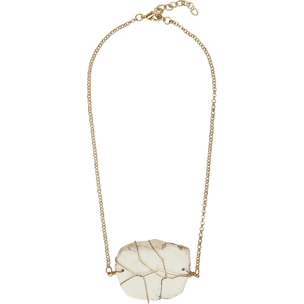 Samoe White Agate Necklace White Agate - Samoe Jewelry