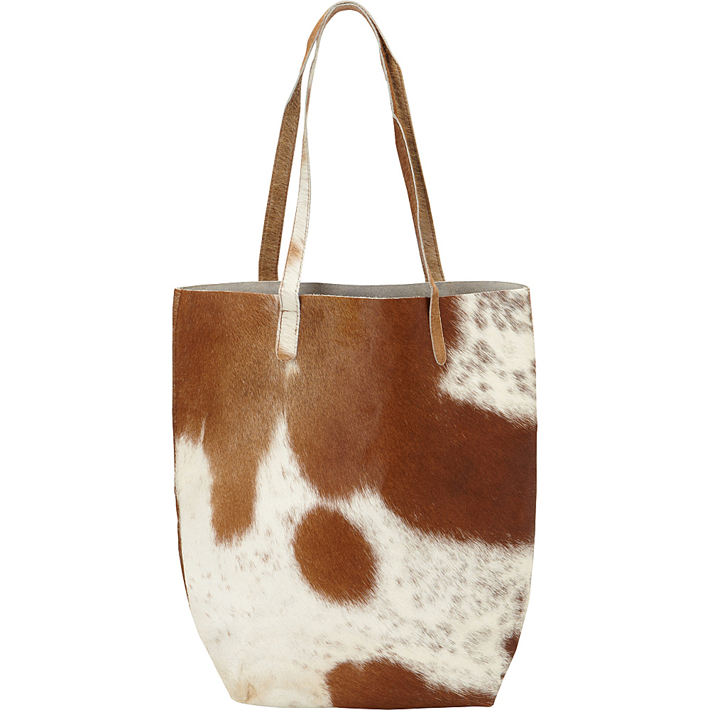 Latico Leathers Graham Tote Brown/White - Latico Leathers Leather Handbags - Handbags, Leather Handbags