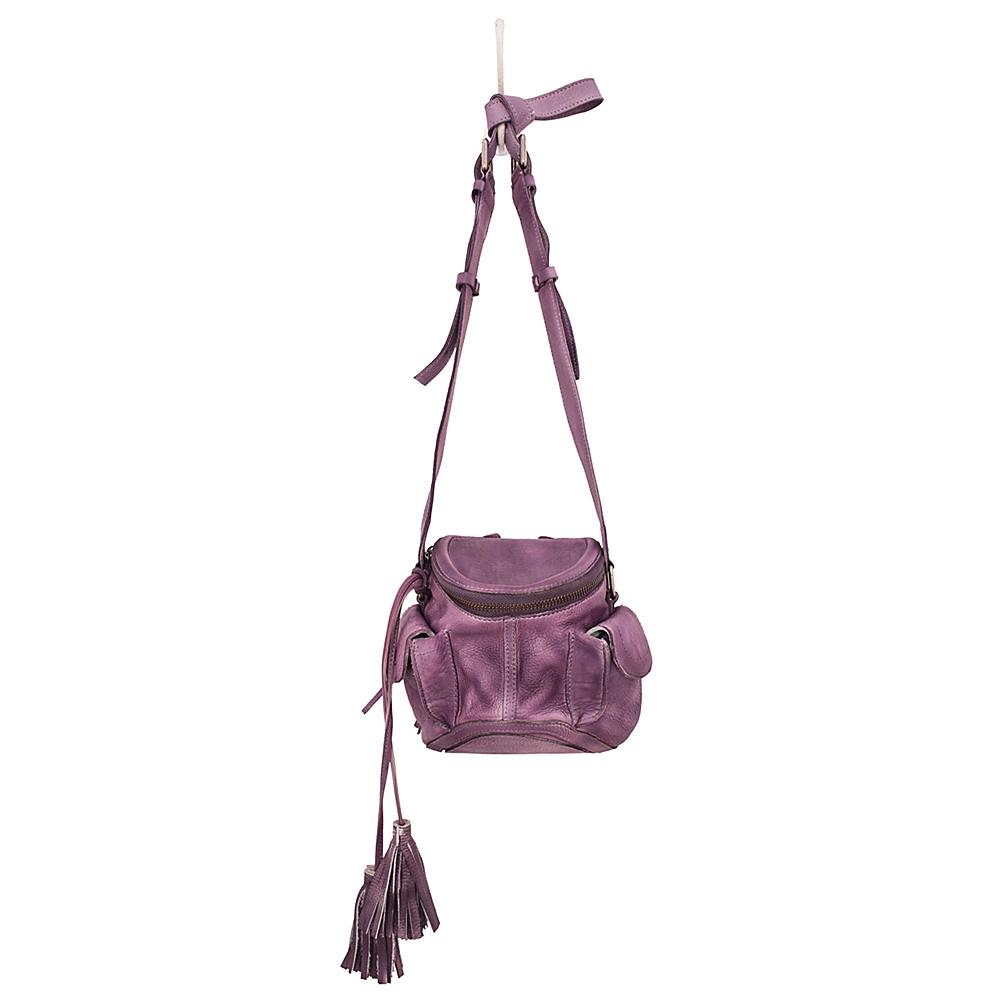 Latico Leathers Clover Crossbody Washed Purple - Latico Leathers Leather Handbags - Handbags, Leather Handbags