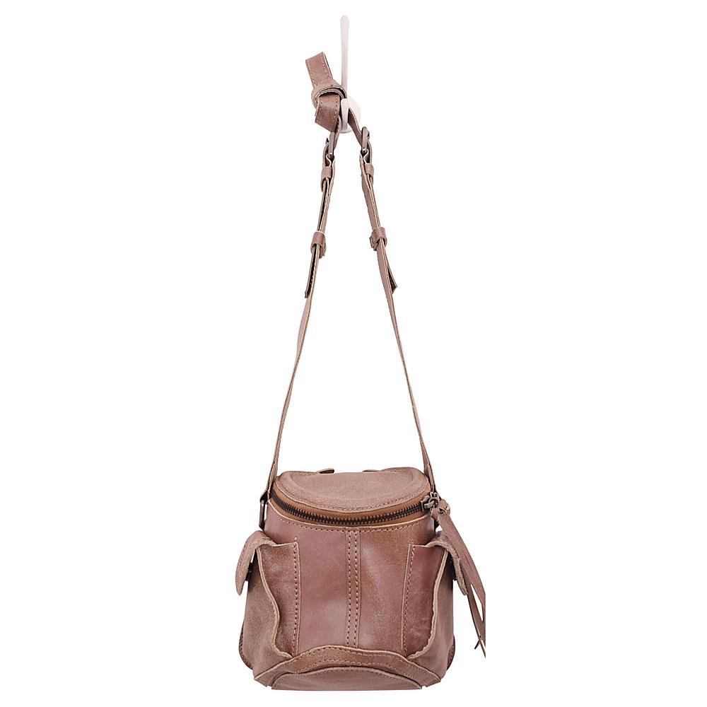 Latico Leathers Clover Crossbody Crackle Metallic Rose - Latico Leathers Leather Handbags - Handbags, Leather Handbags