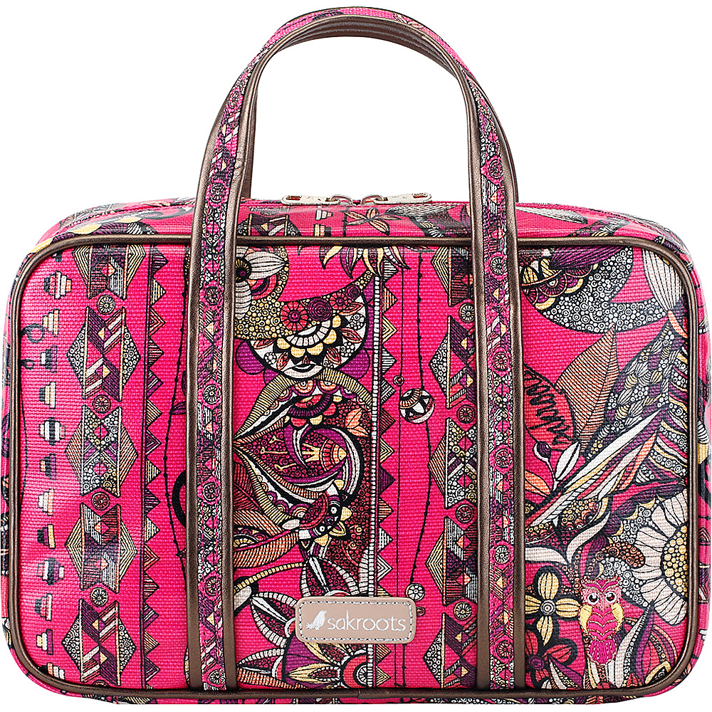 Sakroots Artist Circle Critter Travel Case Fuschia Spirit Desert - Sakroots Toiletry Kits - Travel Accessories, Toiletry Kits