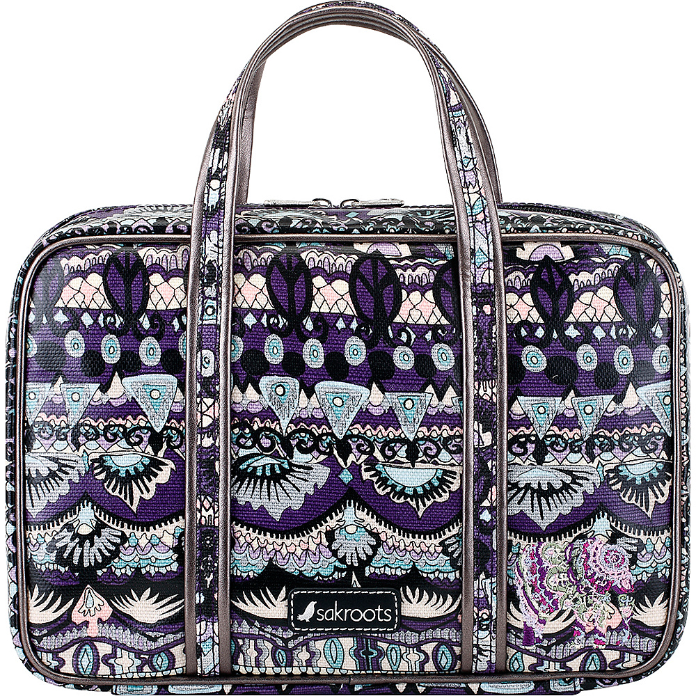 Sakroots Artist Circle Critter Travel Case Violet One World - Sakroots Toiletry Kits - Travel Accessories, Toiletry Kits