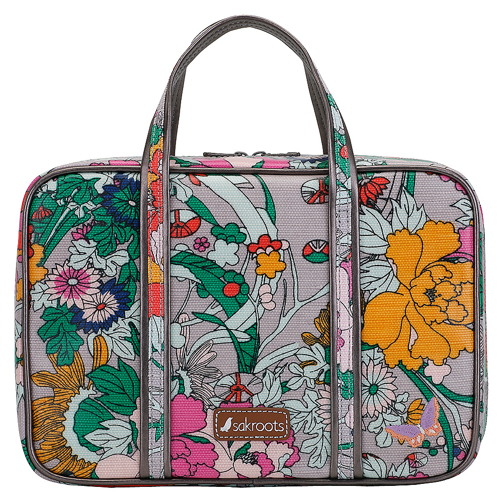 Sakroots Artist Circle Critter Travel Case Lilac Flower Power - Sakroots Toiletry Kits - Travel Accessories, Toiletry Kits