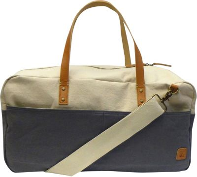 Maker & Co Two-Tone Canvas Duffle Bag Grey - Maker & Co Travel Duffels