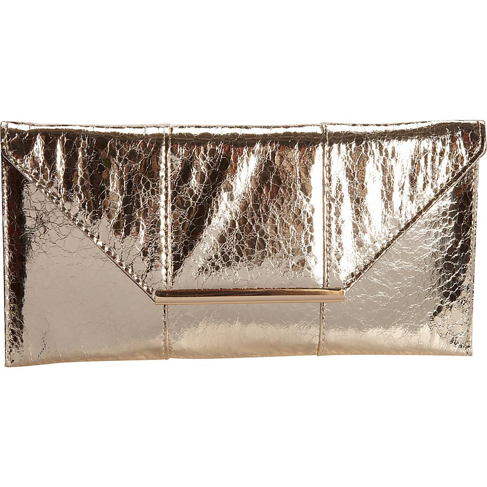 JNB Metallic Clutch Gold JNB Manmade Handbags