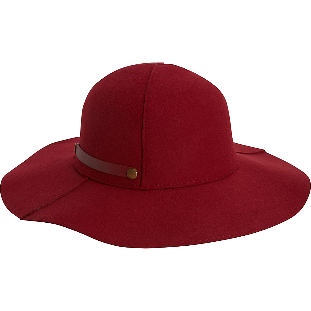 Adora Hats Packable Wool Felt Floppy Hat Burgundy Adora Hats Hats Gloves Scarves