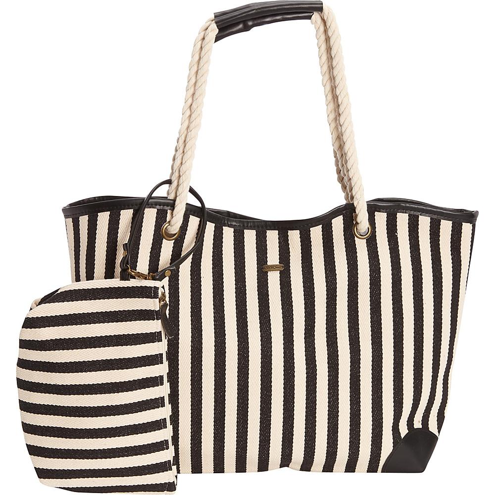 Sun N Sand Cloister Shoulder Tote Black - Sun N Sand Fabric Handbags - Handbags, Fabric Handbags