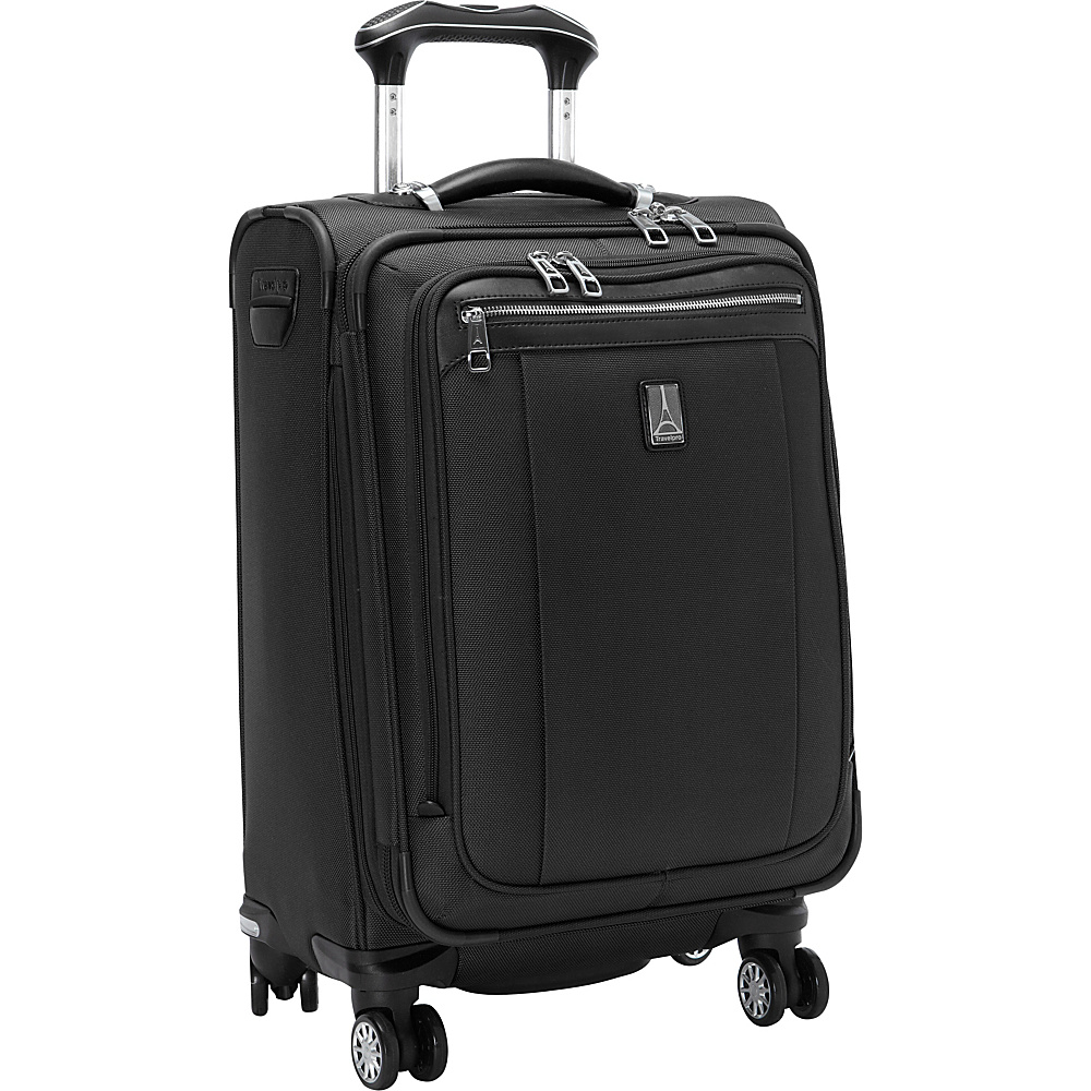 "Travelpro Platinum Magna 2 20"" Business Plus Spinner Black - Travelpro Softside Carry-On"