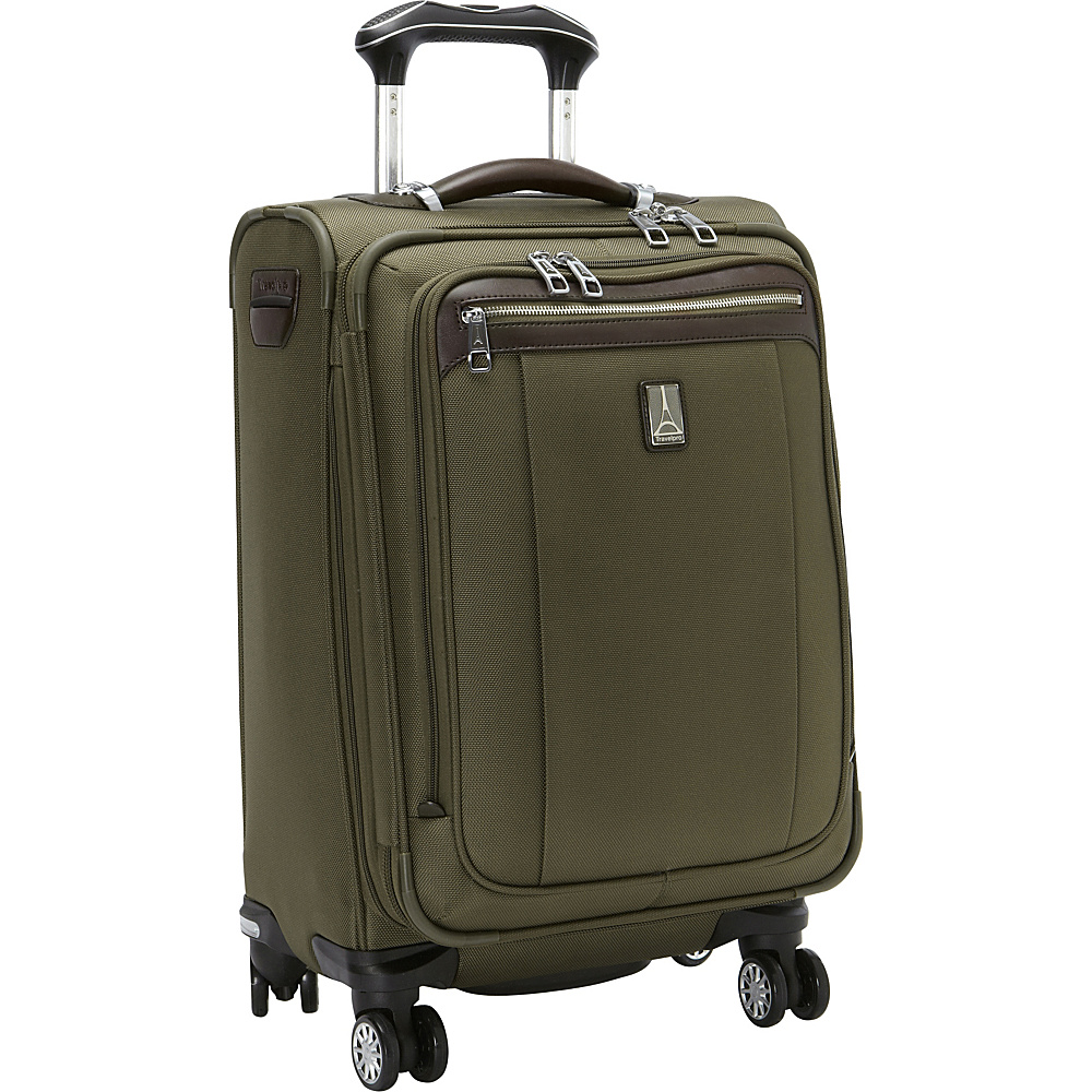 Travelpro Platinum Magna 2 20 Business Plus Spinner Olive Travelpro Softside Carry On