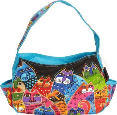 Laurel Burch Whiskered Family Medium Hobo Multi - Laurel Burch Fabric Handbags