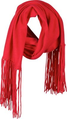 Kinross Cashmere Long Fringed Scarf Cherry - Kinross Cashmere Scarves