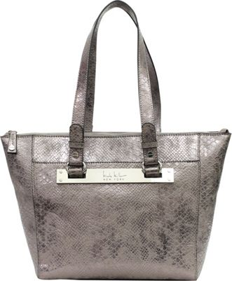 Nicole Miller New York Hot Plate Tote Pewter - Nicole Miller New York Manmade Handbags