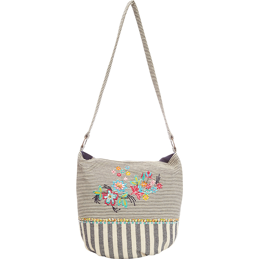 Scully Dual Print Cotton Shoulder Bag Multi Scully Fabric Handbags